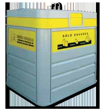 Contenedor de envases amarillo