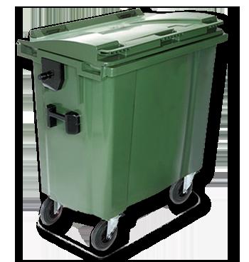 Contenedor de residuos orgánicos Verde