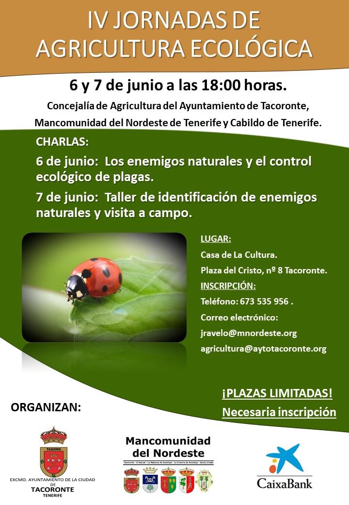 Iv jornadas de agricultura ecol gica mancomunidad del for Control de plagas tenerife